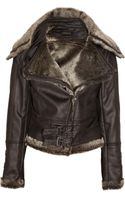 Supertrash Olammy Faux Shearling-trimmed Jacket - Lyst