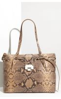 Jimmy Choo Rhea Snake Embossed Shopper - Lyst