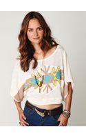 Free People Tribal Graphic Sweater Tee