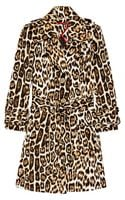 Alice + Olivia Leopard-print Stretch-cotton Trench Coat - Lyst