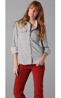 Textile Elizabeth And James Western Shirt - Lyst