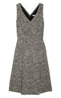 Oscar de la Renta Cotton-blend Tweed Dress