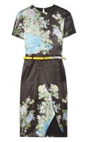 Preen Akiko Printed Silk Dress