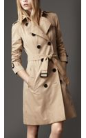 Burberry Cotton Gabardine Heritage Trench Coat - Lyst