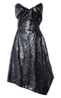 Vivienne Westwood Gold Label Paper Bag Sequined Satin Dress