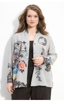 Citron Print Silk Jacket