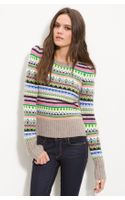 Juicy Couture Bright Fair Isle Sweater - Lyst