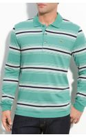 Lacoste Stripe Long Sleeve Polo - Lyst