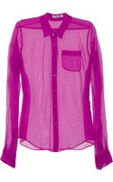 Jil Sander Sheer Silk-organza Shirt