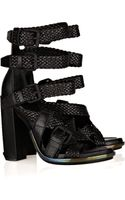 Alexander Wang Petra Textured-leather Sandals - Lyst