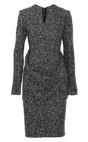 Jil Sander Wool-blend Tweed Dress - Lyst