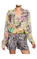 Mary Katrantzou Printed Silk Georgette Shirt