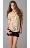 Textile Elizabeth And James Austin Shirt - Lyst