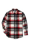 Polo Ralph Lauren Wool and Suede Checked Shirt - Lyst
