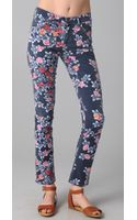 Citizens Of Humanity Mandy Floral Roll Up Jeans - Lyst