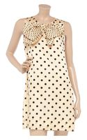 Sonia By Sonia Rykiel Polkadot Cotton and Silkblend Dress