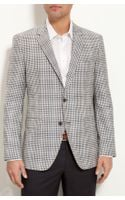 Boss Black The Smith Gingham Plaid Sportcoat