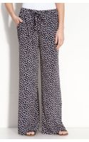 Bobeau Print Wide Leg Pants