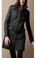 Burberry Brit Diamond Quilted Trench Coat