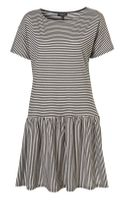 Topshop Stripe Drop Waist Dress
