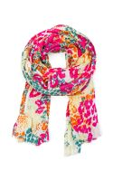 Mango Coloured Printed Foulard - Lyst