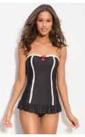 Betsey Johnson Lace Is More One Piece Swimsuit