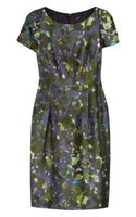 J.Crew Lillian Watercolor-Floral Wool-Blend Dress - Lyst