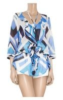 Emilio Pucci Nastri Printed Cotton and Silk-blend Tunic