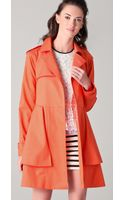 Tibi Draped Trench Coat - Lyst