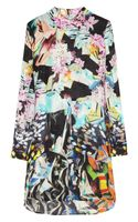 Mary Katrantzou Printed Silk-georgette Dress