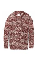 Maison Martin Margiela Knitted Cotton and Wool-blend Sweater - Lyst