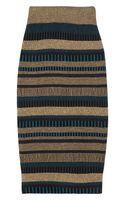 Burberry Prorsum High-waisted Knitted Pencil Skirt