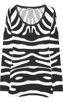 Alice By Temperley Printed Cotton Blend Jersey Top
