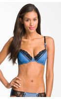 Betsey Johnson Lace Trim Underwire Bra