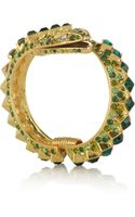 Kenneth Jay Lane 22karat Goldplated Crystal Snake Bracelet