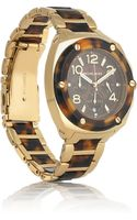 Michael Kors Stainless Steel and Tortoiseshell Chronograph Watch