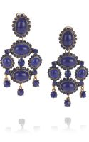 Oscar de la Renta 24karat Goldplated Cabochon Clip Earrings