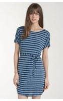 Splendid Belted Nautical Stripe Dress