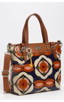 Fossil Vintage Keyper Coated Canvas Tote