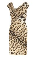 Roberto Cavalli Leopardprint Stretchjersey Dress