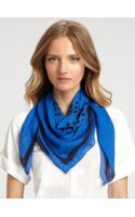 Tory Burch Dot Pattern Signature Logo Scarf - Lyst