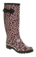 Office Nutty Knee Welly Pink Leopard - Lyst