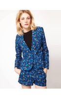 French Connection French Connection Floral Print Jacket - Lyst