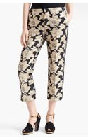Marni Straight Leg Brocade Crop Pants