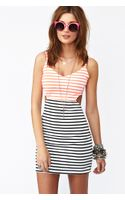 Nasty Gal Seeing Stripes Cutout Dress