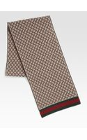 Gucci Diamante Pattern Knit Scarf - Lyst