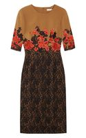 Erdem Ivy Embroidered Stretchcrepe and Lace Dress - Lyst