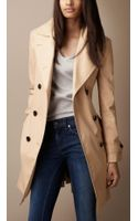 Burberry Brit Oversize Collar Trench Coat - Lyst