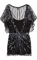 Temperley London Web Embellished Tulle Top