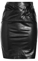3.1 Phillip Lim Twistfront Leather Pencil Skirt